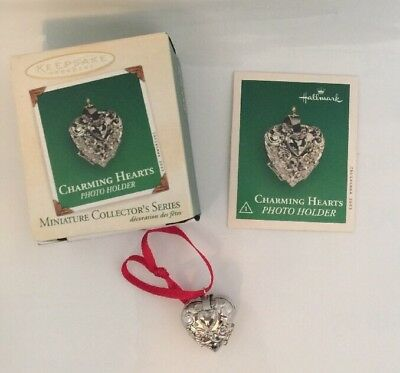 "Hallmark ""Charming Hearts"" Miniature Ornament Dated 2003"