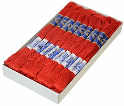 24 Docken Stickgarn / Sticktwist #3292 True Red (0,50€/1Stk)