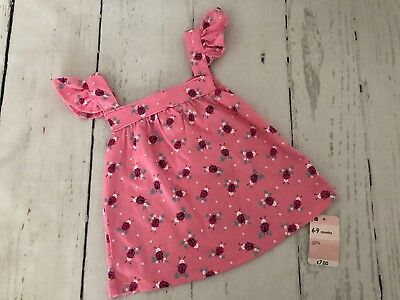 Girls * Mothercare * Pink Summer Vest - 6-9 Months * New With Tags * (913)