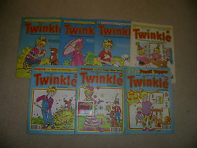 Twinkle, the paper comic for girls x 7  from 1991/92 like Judy and Bunty +gift