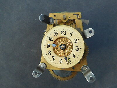 Small Antique Clock Movement and Face