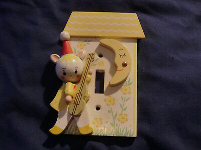 Vintage Irmi Cat and the Fiddle Light Switch Cover nursery decor