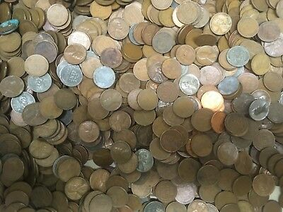 Wheat Penny Lincoln Cent Rolls 1000 Coins  Un Searched ?  Lot :  Must Read