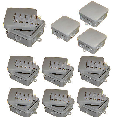10 x Small Square Junction Box 65 x 65 x 30mm CCTV Floodlight Outdoor Connection