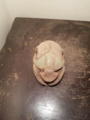 Rare Antique Ancient Egyptian Scarab w Book Dead Brings Luck1650-1560BC