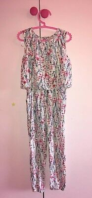 Girls Summer Floral Jumpsuit Playsuit George 6-7 Years RRP £16