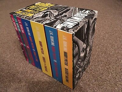 Full set of Harry Potter Books by J.K.Rowling - 7 Books & collection box R41810
