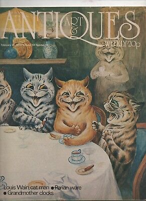 Louis Wain Cat Man Antiques & Art Weekly Magazine includes Wain Article 1974