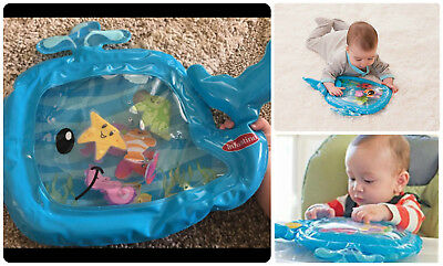 Inflatable Baby Toy Pat And Play Water Mat Tummy Time High Chairs Pool Fun