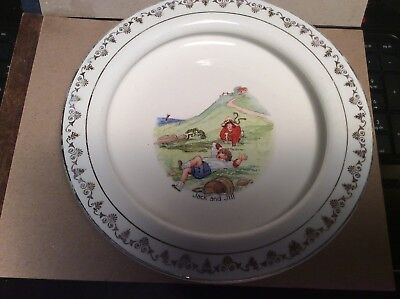 Holdfast Baby Plate Jack And Jill From D.E.McNichol-East Liverpool, Ohio