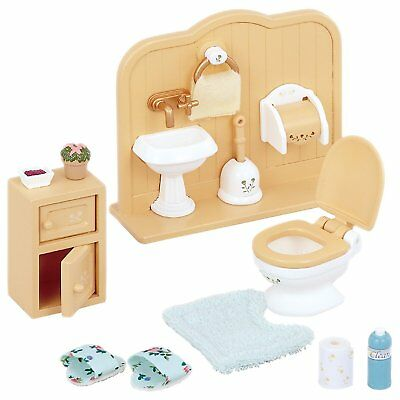 Sylvanian Families Toilet Set Kids Bathroom Furniture Role Play Toy