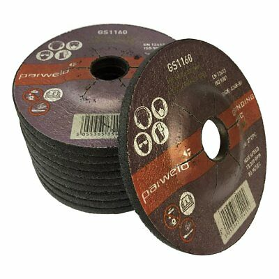 PACK OF 10 Parweld 115mm Grinding discs for steel 115 x 6.0 x 22.2mm 4.5""