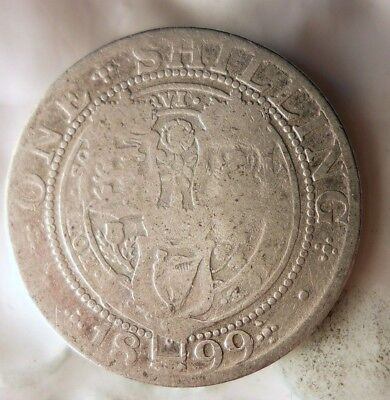 1899 GREAT BRITAIN SHILLING - SCARCE TYPE SILVER Coin -Lot A17