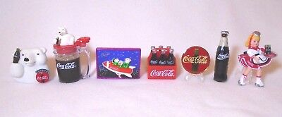 Vintage Coca-Cola Coke Refrigerator Magnets Set of 7