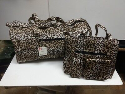 "Vintage Circa 70""s LEOPARD PRINT Purse and Tote bag set"