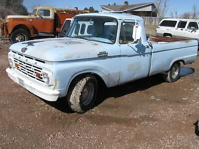 1964 Ford F-100 -- 1964 FORD F 100 DAILY DRIVER V8 THREE SPEED ON COLUMN