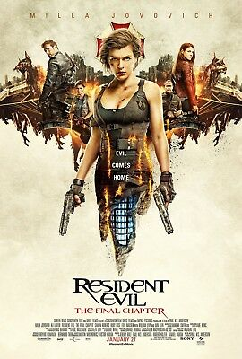Resident Evil - The Final Chapter - Original movie theater poster 27x40 DS