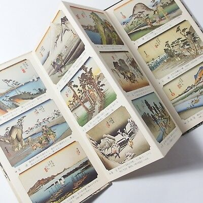Accordion Style Book, 53 Stages of the Tokaido, Hiroshige Ando, Ukiyo-e, Rare!