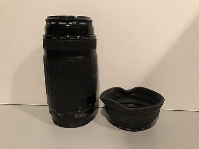 CANON ZOOM LENS EF 75-300MM 1:4-5.6 with HOYA 58MM PL LENS!