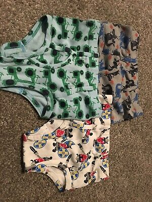 HANNA ANDERSSON Unders Boys Underwear 3-Pk Tractors and dragons   Small 100-110