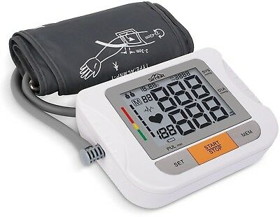 SIMBR Upper Arm Blood Pressure Monitor for Home Use with Large Cuff, Digital...