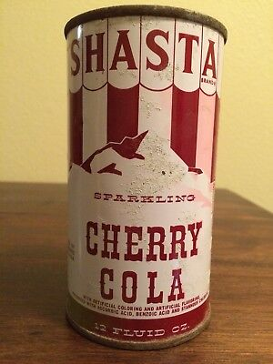 Shasta Cherry Cola Soda Pop Can Hayward California Flat Top