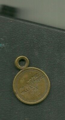 PARK HOTEL, WILLIAMSPORT, PA.,ROOM KEY I.D. DISK-EARLY 1900s