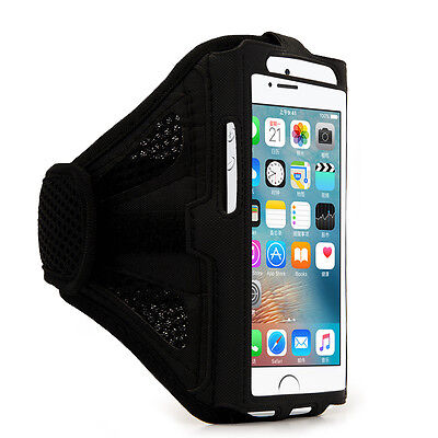 Black Mesh Running Jogging Sports GYM Armband Case Holder For iPhone XS X 8 7 6s