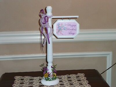 HAPPY MOTHER'S DAY SIGNPOST ACCESSORY FOR BYERS CHOICE ~ Great gift idea!