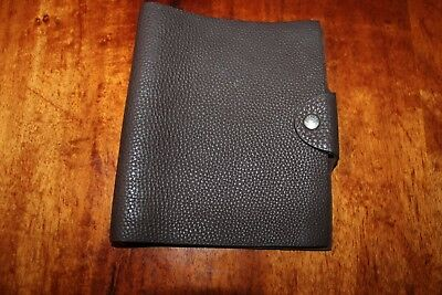 Authentic Pre-Loved Hermes Ulysse Small Notebook Cover in Brown Togo Calfskin
