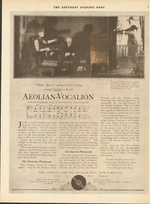 1919 Aeolian Co New York-Vocalion Phonograph WWI Boys in Blue Coming Home Ad