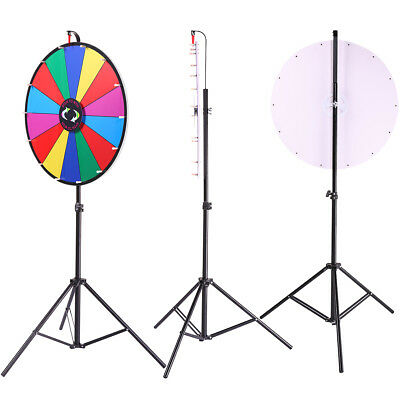 "Tabletop Spinning Upgraded Editable 24"" Color Prize Wheel Game"