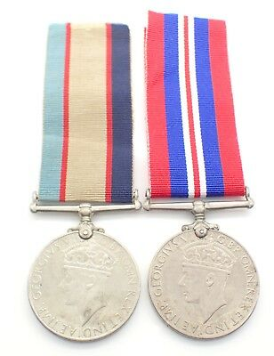 WWII Australian Medal Pair to N197063 Pte. F. A. Gentle