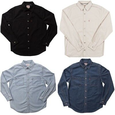 New Levi's Men's Classic Fit Long Sleeve Work Shirts