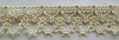 Vintage Polished Cotton Lace Trim Rococo Scalloped Edge French