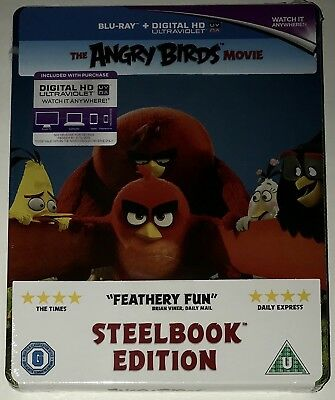 THE ANGRY BIRDS MOVIE Brand New Blu-Ray STEELBOOK EDITION UK Import