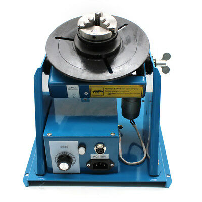 "Rotary Welding Positioner Turntable Table Mini 2.5"" 3 Jaw Lathe Chuck Video"