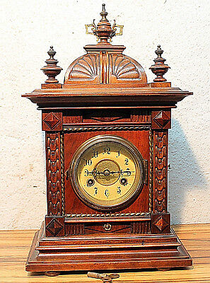 Antique German Walnut Mantel Clock Shelf Bracket clock German*JUNGHANS