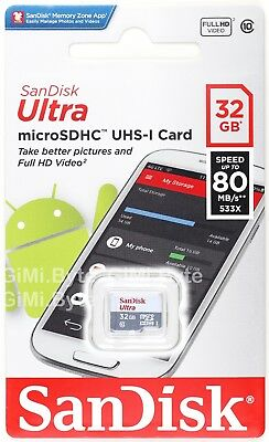 SanDisk Ultra 32 GB 32G Micro SD SDHC Class 10 UHS-I Up To 80MB/s Memory TF Card