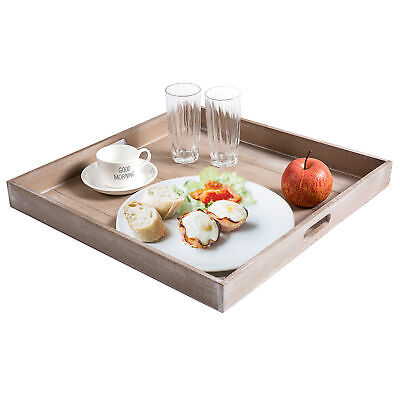 Astounding 19 Inch Shabby Chic Square Wood Serving Tray For Breakfast Dailytribune Chair Design For Home Dailytribuneorg