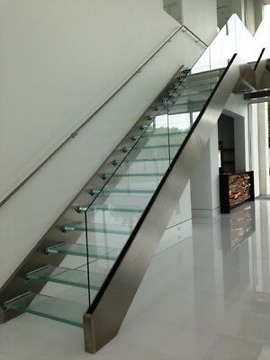 Indoor Staircase Stainless Black Steel Wooden steps available BEST PRICES!