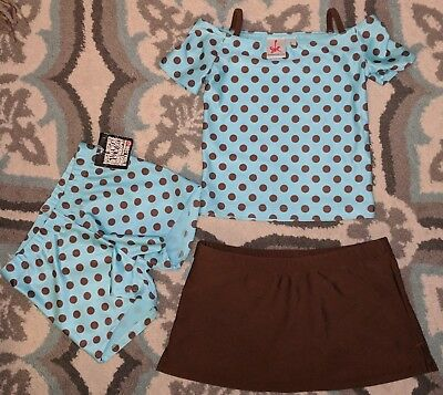 NWT and NWOT Katrina Wear Girls Dance wear Top size 5 and bottoms Size 6x