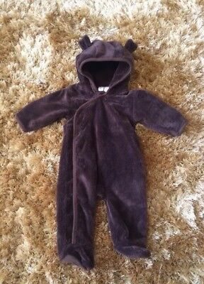 All in one fleece suit 3-6 months Baby Gap soft bear