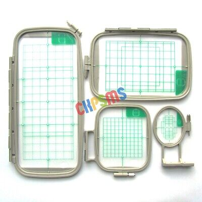 4Piece Embroidery Hoop Set for Brother PE770, NV780D, F440E, PE830DL, NS2750D+