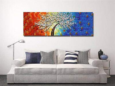 3 Panels Modern Home Canvas Print Wall Art Oil Painting Flower Tree Change Color