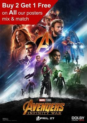 Marvel Avengers Infinity War Dolby Movie Poster A5 A4 A3 A2 A1