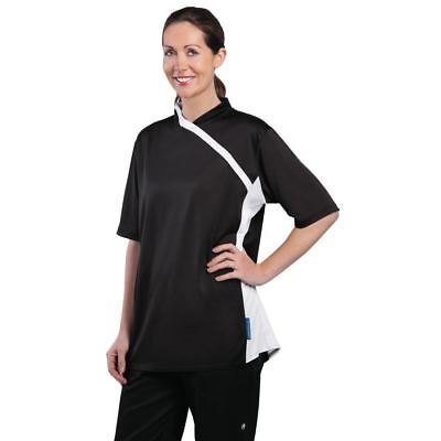 Le Chef Thermocool Prep Shirt Black with White Trim