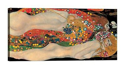 QUADRO GUSTAV KLIMT Sea Serpents Stampa su tela Canvas effetto dipinto