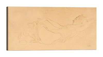 QUADRO GUSTAV KLIMT Sleeping Woman Stampa su tela Canvas effetto dipinto