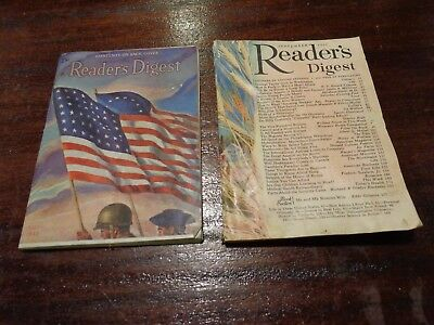 2 Vintage Readers Digest Magazines lot one war issue 1943 and one 1955